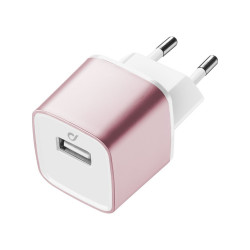 Nabíjačka USB, 2A, ružová, fast charge, Unique Design